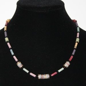 Vintage STUNNING stone necklace 18 inches